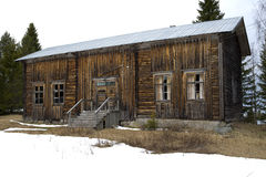 Old desolate house. An old timber house in northern Sweden Stock Image