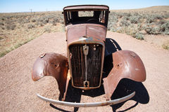 Old destroy abandoned american car, USA Stock Photo