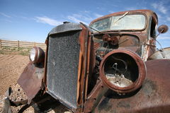 Old destroy abandoned american car, USA Royalty Free Stock Photography