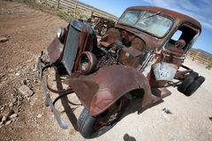 Old destroy abandoned american car, USA Stock Images