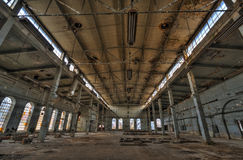 Old destroyed an abandoned factory Royalty Free Stock Photography