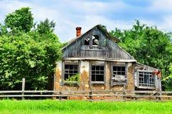 Old destroyed an abandoned farm in the Krasnodar region Royalty Free Stock Photos