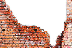Old Destroyed Brick Wall Stock Images