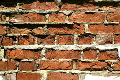Old destroyed brick wall background. Brick Royalty Free Stock Photography