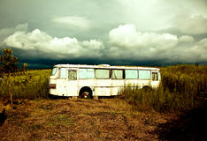 Old destroyed bus Stock Photography