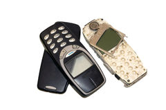 Old destroyed cell phone Stock Photo