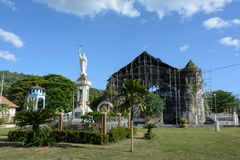 Old destroyed church in Loboc, Bohol, Philippines. Old destroyed church in Loboc, Bohol Royalty Free Stock Images