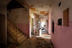 Old destroyed house Stock Image
