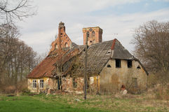 Old destroyed house Stock Photo