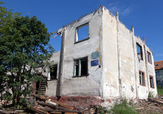 Old destroyed house in Russia Stock Photography