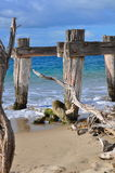 Old destroyed pier Royalty Free Stock Photos