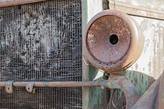 Old destroyed and rusty retro of the car closeup Royalty Free Stock Photography