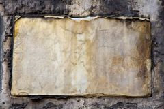 Old Destroyed Stone Plaque Stock Photos