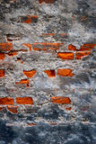 Old  Destroyed Wall. Old and destroyed brick wall Stock Photo