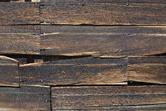 Old Deteriorating Wooden Exterior Wall Royalty Free Stock Photography