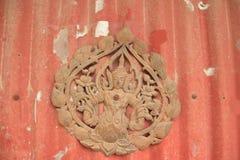 Old deva wood craving Stock Photography