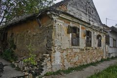 Old devastated house. An old abandoned and devastated farmhouse that is prone to decline Royalty Free Stock Photography