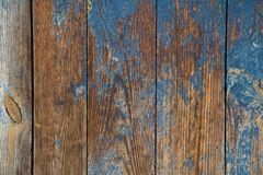 Old devastated wood wall. The old devastated wooden wall of blue with a touch of brown royalty free stock images