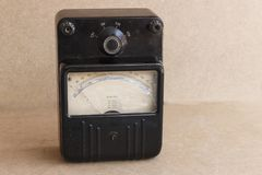 Old devices for electrical measurements. Old electrical equipment Royalty Free Stock Images