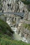 Old Devil's Bridge near Andermatt Royalty Free Stock Image