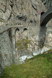 Old Devil's Bridge near Andermatt Royalty Free Stock Photos