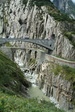 Old Devil's Bridge near Andermatt Stock Images