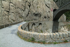 Old Devil's Bridge near Andermatt Royalty Free Stock Photo
