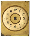 Old dial clock. Gilt Dial old antique clock Stock Image
