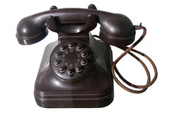 Old dial phone. A brown old button dial phone Royalty Free Stock Image