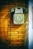 Old dial phone Stock Photography