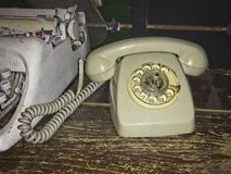 Old dial telephone stock photography