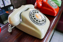 Old dialling telephone Stock Photo