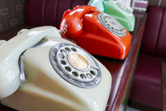 Old dialling telephone Royalty Free Stock Photos