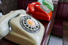 Old dialling telephone Stock Photos