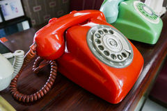 Old dialling telephone Royalty Free Stock Image
