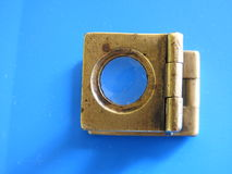 Old diamond magnifier. Used by Diamond polishers Royalty Free Stock Image