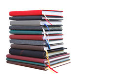 Old diary books  on white background Stock Image