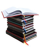 Old diary books  on white background Stock Photography