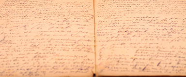 Old diary handwritten Royalty Free Stock Photos