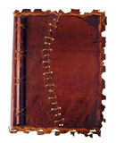 Old diary with leather binding Stock Photos