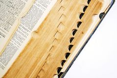 Old Dictionary. View of pages of an old dictionary Stock Image