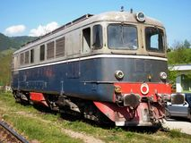 Old diesel electric locomotive Royalty Free Stock Images