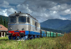 Old diesel electric locomotive HDR Stock Images