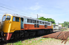 Old diesel eletric locomotive Royalty Free Stock Image