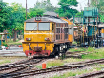 Old diesel eletric locomotive Royalty Free Stock Photos