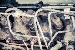 Old diesel engine of the car Stock Photography