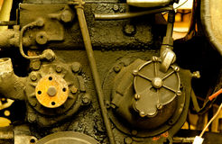 Old diesel engine close-up Stock Images