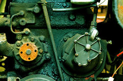 Old diesel engine close-up Stock Photos