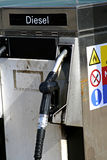 Old diesel fuel pump Stock Images