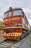 Old diesel locomotive Royalty Free Stock Images